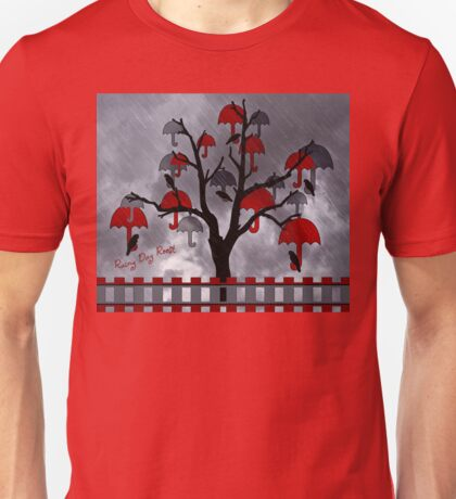 Rainy Day Roost in the Umbrella Tree  Unisex T-Shirt