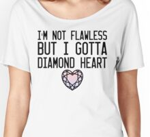 Diamond Heart Women's Relaxed Fit T-Shirt