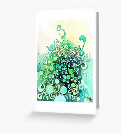 Visible Connections - Watercolor and Pen Art Greeting Card
