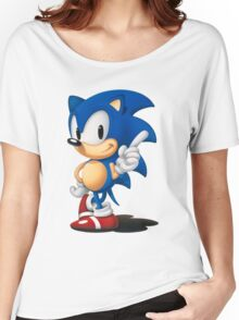 The Classic Blue Hedgehog (white background) Women's Relaxed Fit T-Shirt
