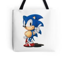 The Classic Blue Hedgehog (white background) Tote Bag