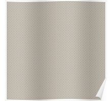 Cream and Blue Nordic Christmas Knit Pattern Poster