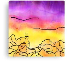 Inked Sunset  Canvas Print