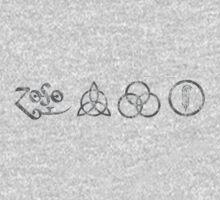 ANCIENT PAGAN SYMBOLS EXTREMELY DISTRESSED - DARK GREY Kids Clothes