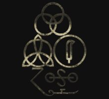 LED ZEPPELIN SYMBOLS - EXTREMELY DISTRESSED by LadyEvil
