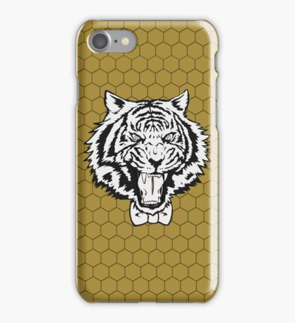 Yuri's Tiger: B&W Honeycomb iPhone Case/Skin