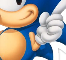 The Classic Blue Hedgehog (black background) Sticker