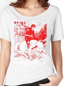 Red manga kiba akamaru Women's Relaxed Fit T-Shirt