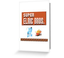 Super Elric Bros. Greeting Card