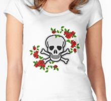 SKULL AND ROSES Women's Fitted Scoop T-Shirt