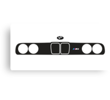 BMW E30 M3 kidney grill and headlights Canvas Print