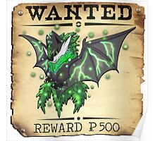 Dark/Poison Bat Most Wanted Poster Poster