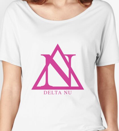 Delta Nu - Pink Women's Relaxed Fit T-Shirt