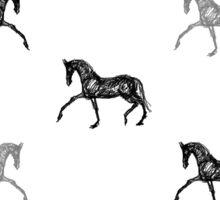 Dressage Horse Trotting Sticker