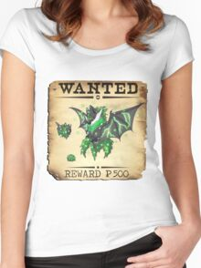 Dark/Poison Bat Family - Most Wanted Poster Women's Fitted Scoop T-Shirt