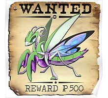 Psychic Mantis - Most Wanted Poster Poster