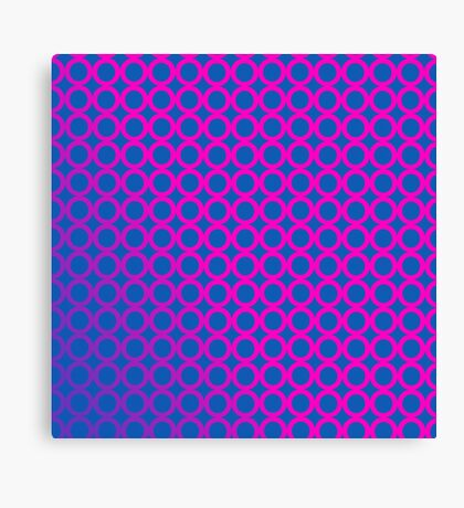 70s Psychedelic Circles  Canvas Print