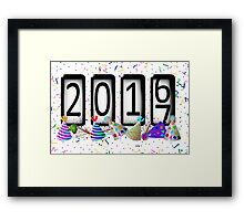 New Years Odometer Party Hats Framed Print