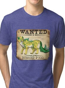 Electric Cheetah - Most Wanted Poster Tri-blend T-Shirt