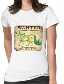 Electric Cheetah - Most Wanted Poster Womens Fitted T-Shirt