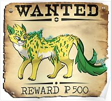 Electric Cheetah - Most Wanted Poster Poster
