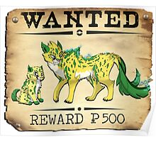 Electric Cheetah Family - Most Wanted Poster Poster