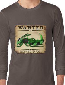 Bug/Dark Grasshopper - Most Wanted Poster Long Sleeve T-Shirt