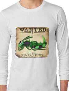 Bug/Dark Grasshopper - Most Wanted Poster Long Sleeve T-Shirt
