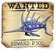 Sailfish/Swordfish - Most Wanted Poster Poster