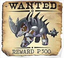 War Rhino - Most Wanted Poster Poster