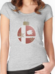 Super Smash Christmas - Sonic Women's Fitted Scoop T-Shirt