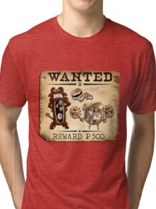 Like Clockwork Family - Most Wanted Poster Tri-blend T-Shirt