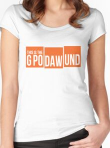 GPODAWUND #GPODAWUND - Football Funny Women's Fitted Scoop T-Shirt