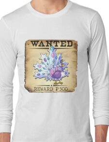 Ice Peacock - Most Wanted Poster Long Sleeve T-Shirt