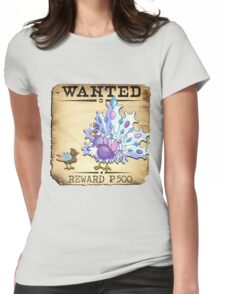 Ice Peacock Family - Most Wanted Poster Womens Fitted T-Shirt