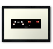 BMW E30 M3 kidney grill, headlights and tailights Framed Print