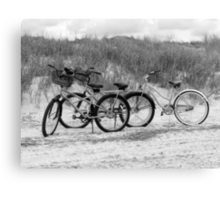 Bikes On The Beach Canvas Print
