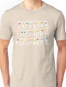 Christmas Lights Alphabet From Stranger Thing T-Shirt Unisex T-Shirt