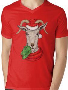 Christmas Goat  Mens V-Neck T-Shirt