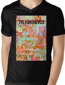 TALKING HEADS Mens V-Neck T-Shirt