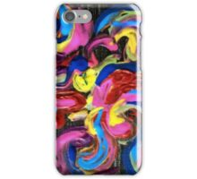 Rapture ~ Acrylic Colors on Black Canvas iPhone Case/Skin