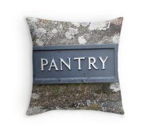 Pantry sign Throw Pillow