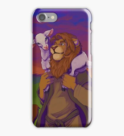 lion and lamb iPhone Case/Skin