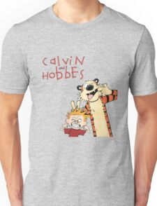 Calvin and Hobbes Funny Face Unisex T-Shirt