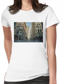 One World Trade Center in the making Womens Fitted T-Shirt