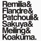 Scarlet Devil Mansion Helvetica List [Black Text] by c58b39dce0