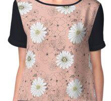 Daisy Flower Pattern Chiffon Top