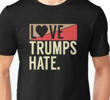 love trump hate Unisex T-Shirt