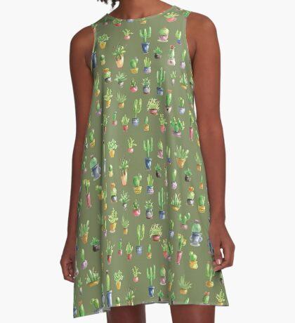 Mein kleiner grüner Kaktus A-Line Dress