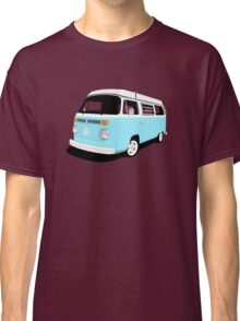 VW Camper Late Bay pale blue and white Classic T-Shirt